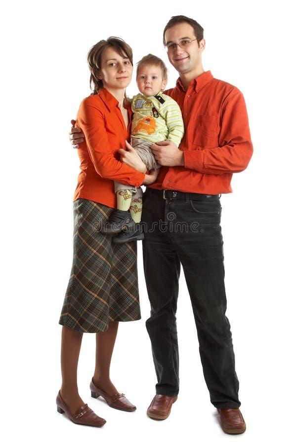 Famiglia bella con il bambino immagini stock