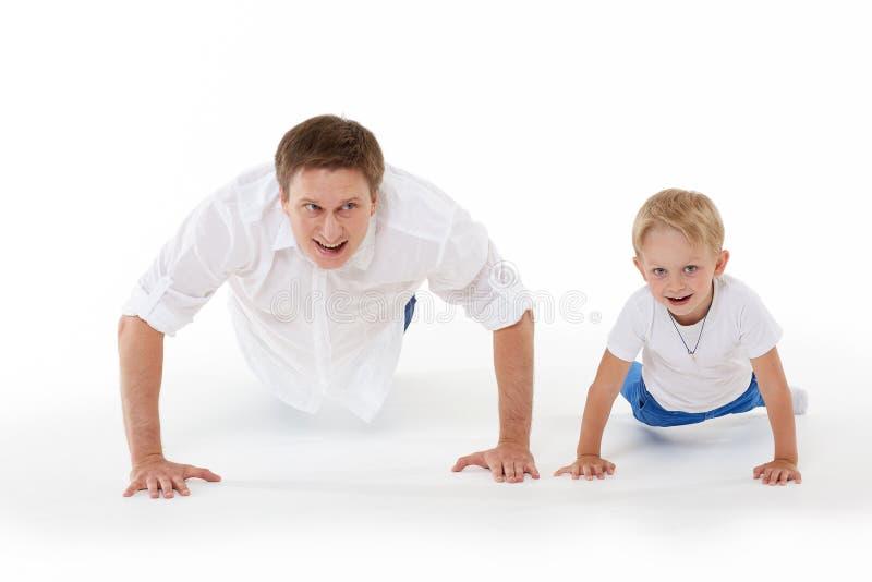 Famiglia in buona salute felice immagini stock