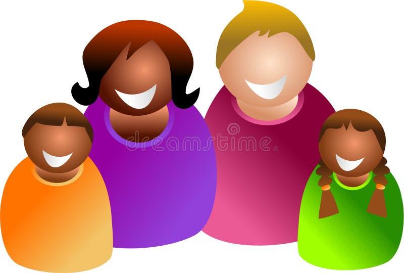 Famiglia Colourful illustrazione vettoriale