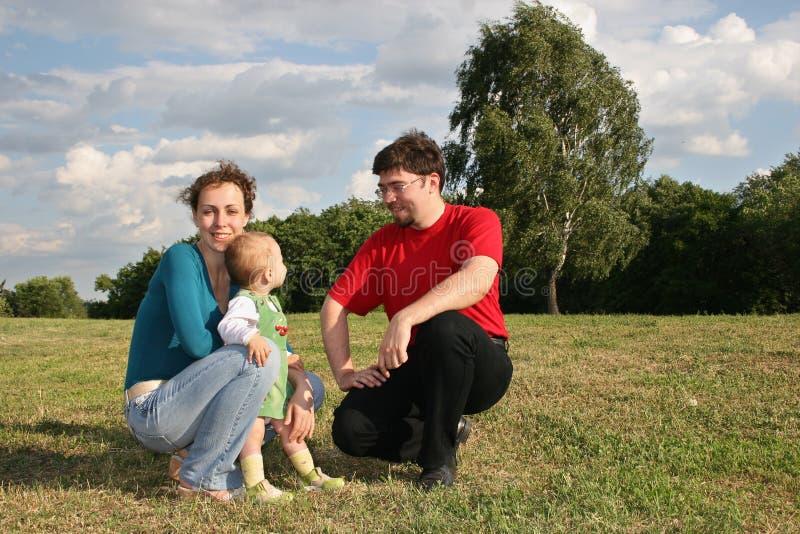 Famiglia con il bambino immagine stock libera da diritti