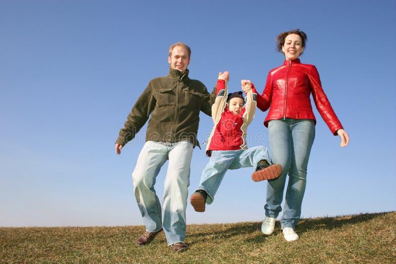 Famiglia corrente fotografie stock