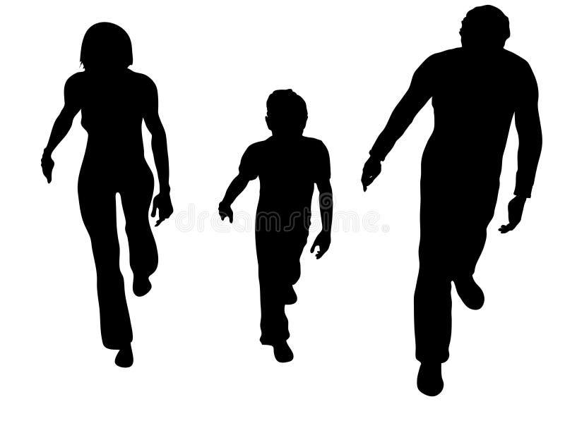Famiglia dalla parte superiore illustrazione vettoriale