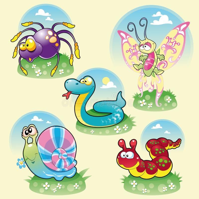 Famiglia degli animali divertenti. royalty illustrazione gratis