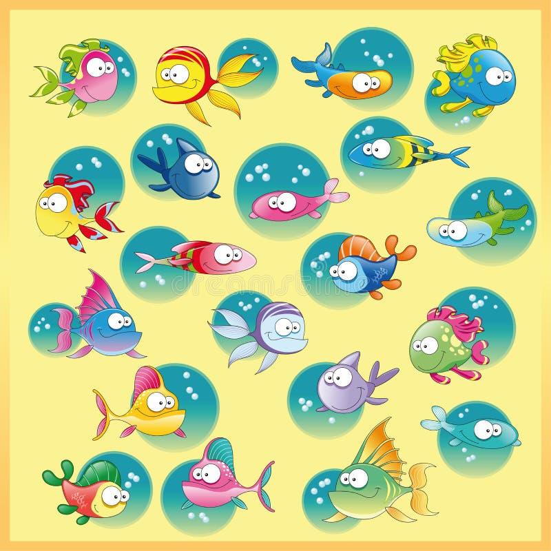 Famiglia dei pesci royalty illustrazione gratis