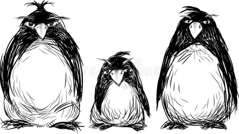 Famiglia dei pinguini illustrazione di stock