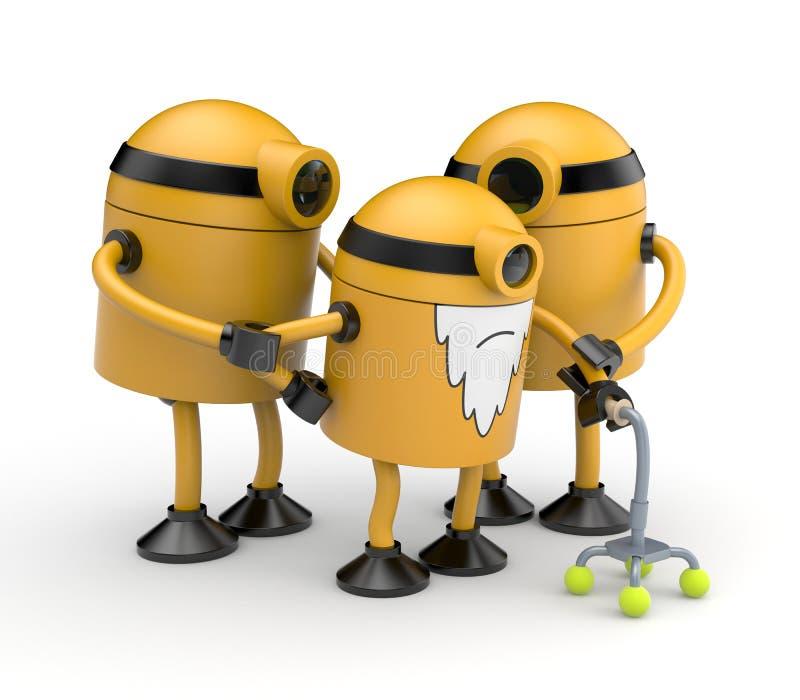 Famiglia dei robot illustrazione di stock