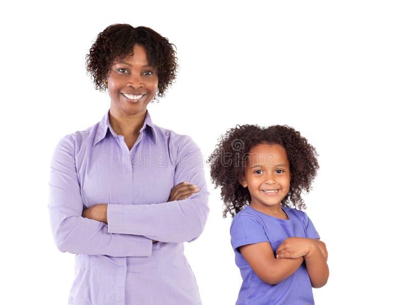 Famiglia del African-American immagine stock