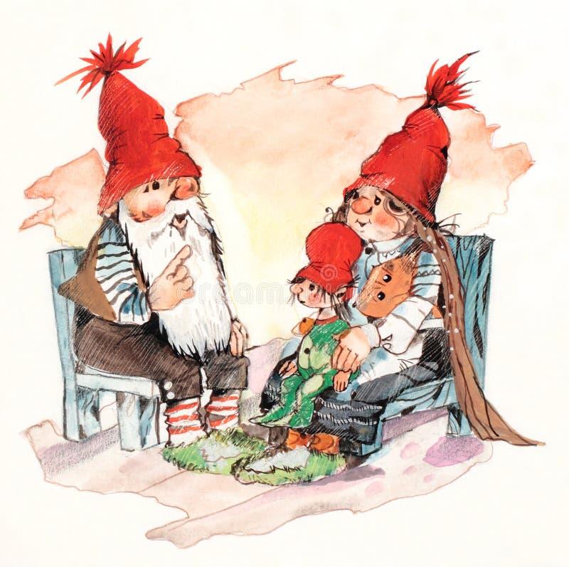 Download Famiglia del Babbo Natale illustrazione di stock. Illustrazione di inverno - 7304289
