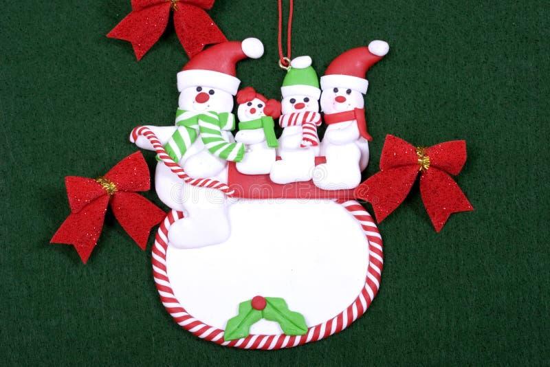 Famiglia del pupazzo di neve fotografia stock libera da diritti
