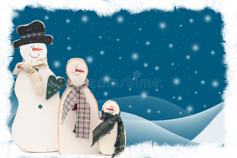 Download Famiglia Del Pupazzo Di Neve Illustrazione di Stock - Illustrazione di snowmen, scheda: 3148379