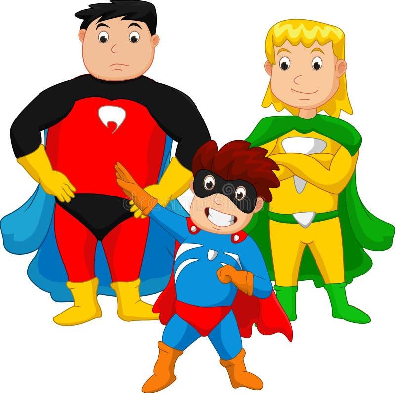 Famiglia dell'eroe eccellente royalty illustrazione gratis