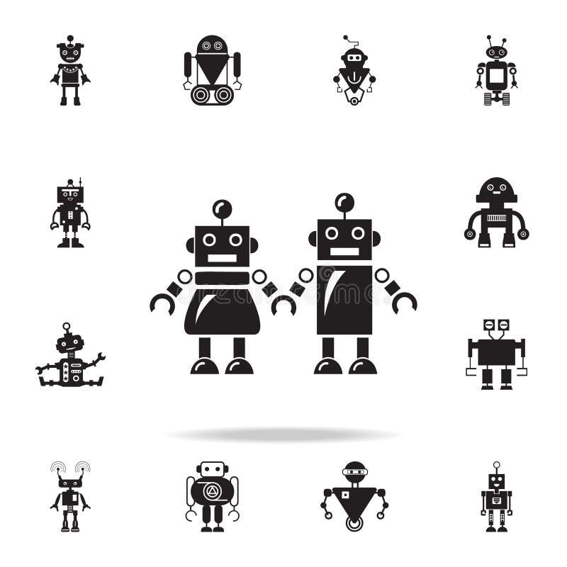 famiglia dell'icona dei robot Insieme dettagliato delle icone del robot Progettazione grafica premio Una delle icone della raccol royalty illustrazione gratis
