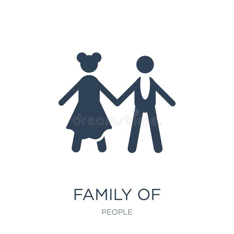famiglia dell'icona eterosessuale delle coppie nello stile d'avanguardia di progettazione famiglia dell'icona eterosessuale delle royalty illustrazione gratis