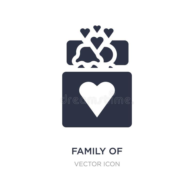 famiglia dell'icona eterosessuale delle coppie su fondo bianco Illustrazione semplice dell'elemento dal concetto della gente illustrazione di stock