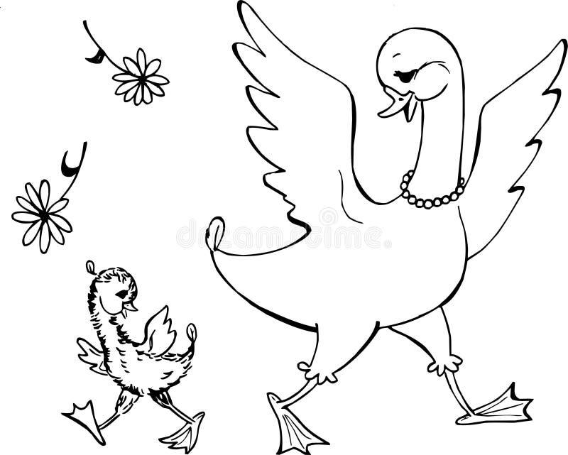 Famiglia dell'oca illustrazione di stock