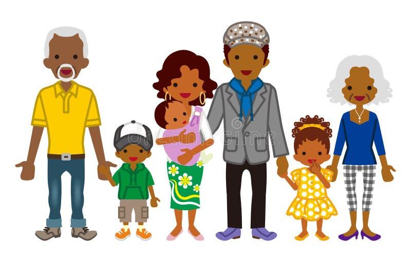 Famiglia di diverse generazioni - Africano illustrazione vettoriale