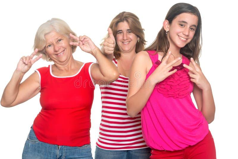 Famiglia di divertiresi ispanico delle donne fotografia stock