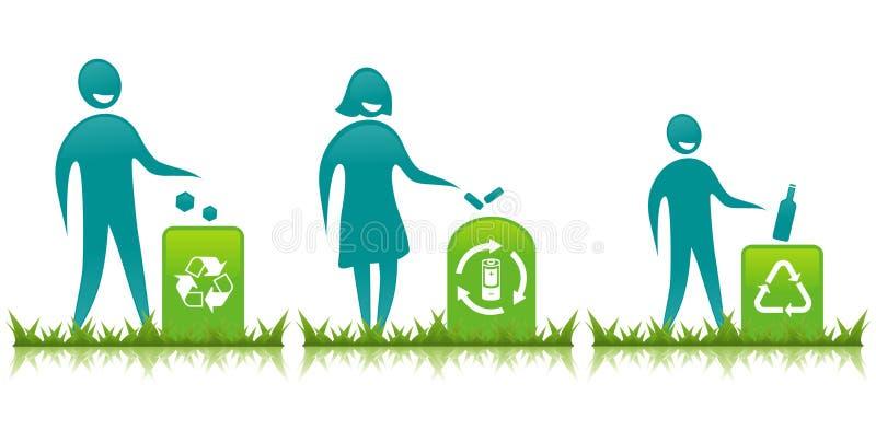 Famiglia di Eco illustrazione vettoriale