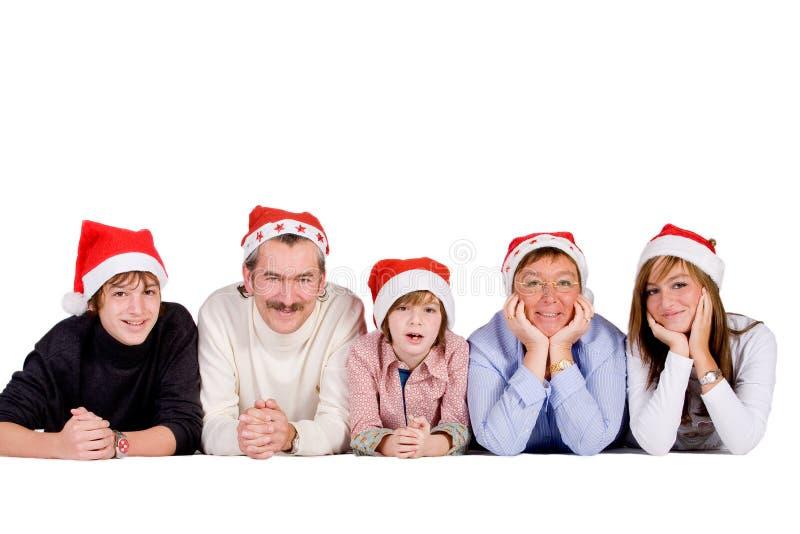 Famiglia di natale immagini stock libere da diritti