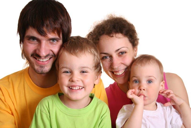 Famiglia di quattro 2 di colore fotografia stock