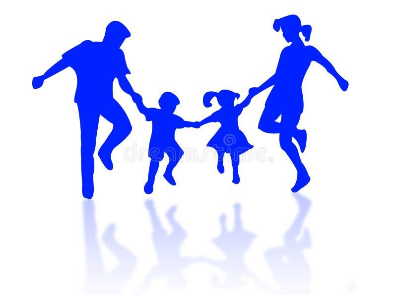 Famiglia di salto illustrazione vettoriale