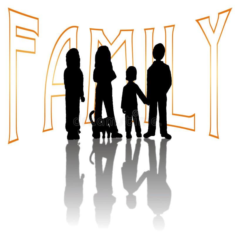 Famiglia di vettore illustrazione vettoriale