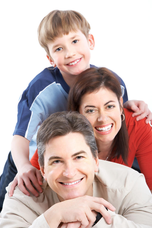 Famiglia felice. fotografia stock