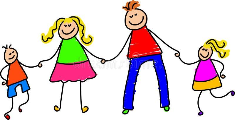 Famiglia felice illustrazione vettoriale