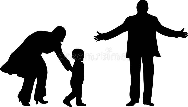 Download Famiglia felice illustrazione vettoriale. Illustrazione di isolato - 7300894