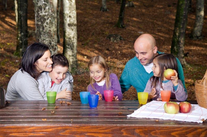 Famiglia felice che ha divertimento fotografia stock