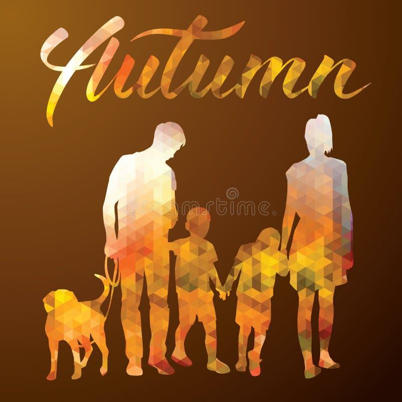 Famiglia felice di vettore royalty illustrazione gratis