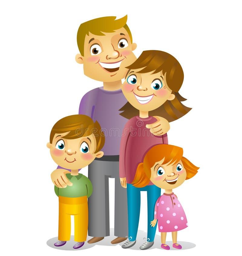 Famiglia felice, illustrazione di vettore illustrazione di stock