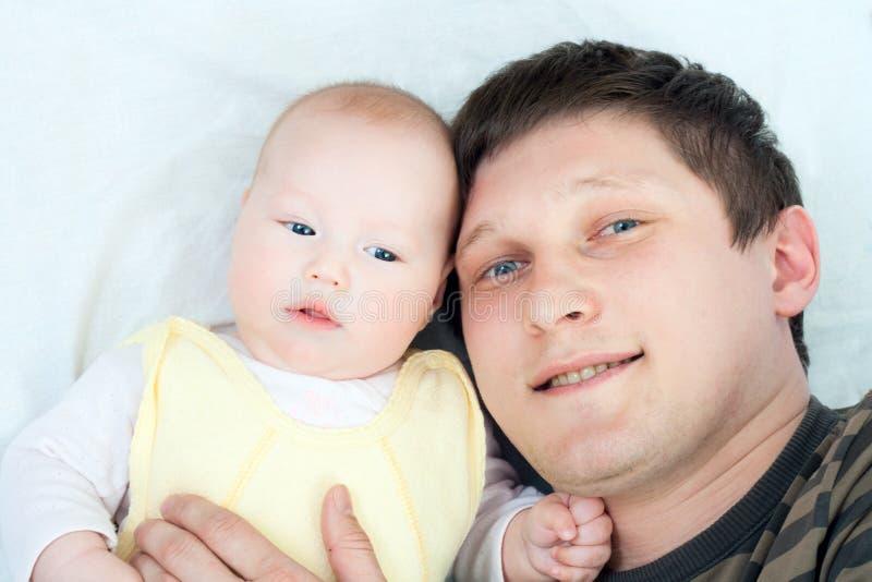 Famiglia felice - padre e bambino fotografia stock