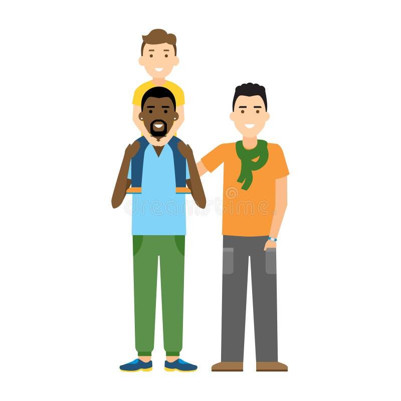 Famiglia gay illustrazione vettoriale