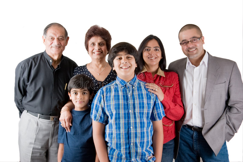 Famiglia indiana estesa immagine stock libera da diritti