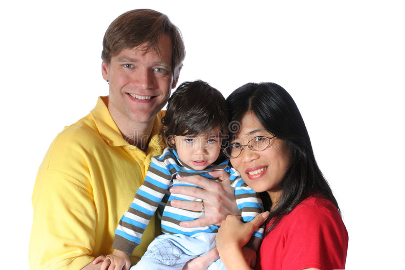 Famiglia interrazziale fotografie stock libere da diritti