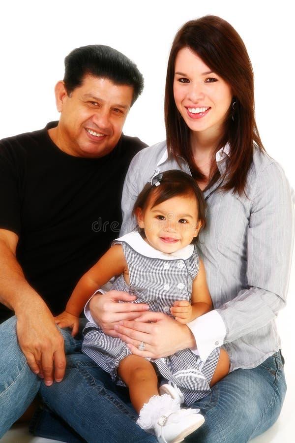Famiglia ispanica felice fotografia stock