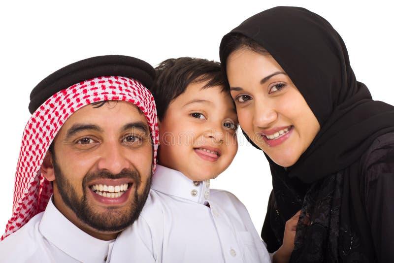 famiglia musulmana tre fotografia stock