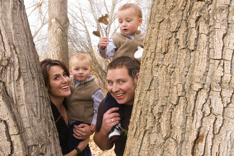 Famiglia in natura