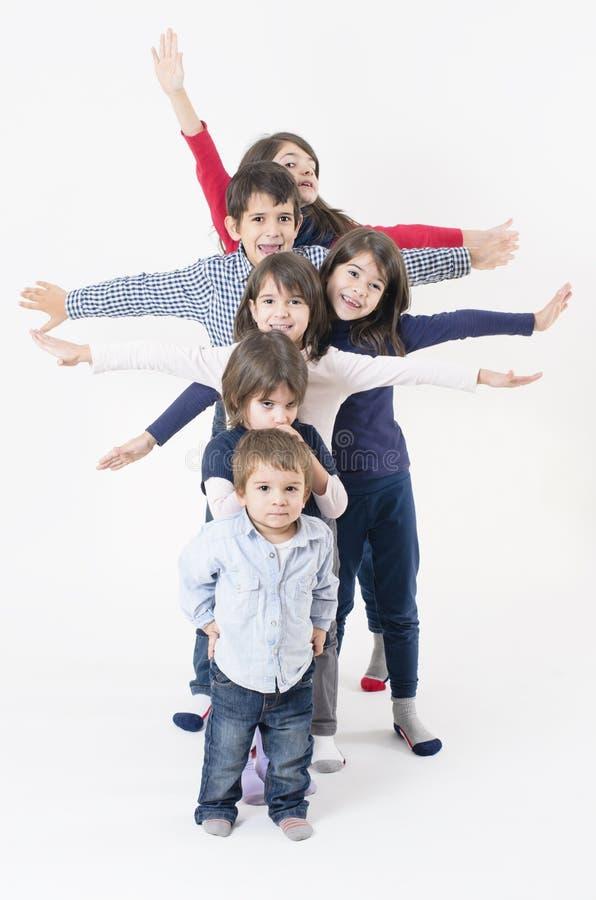 Famiglia numerosa fotografie stock libere da diritti