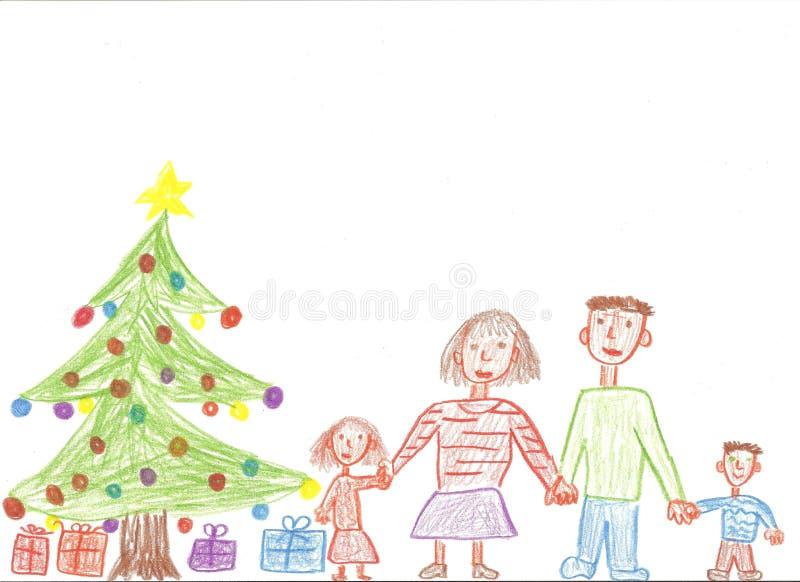 Famiglia per natale fotografie stock libere da diritti