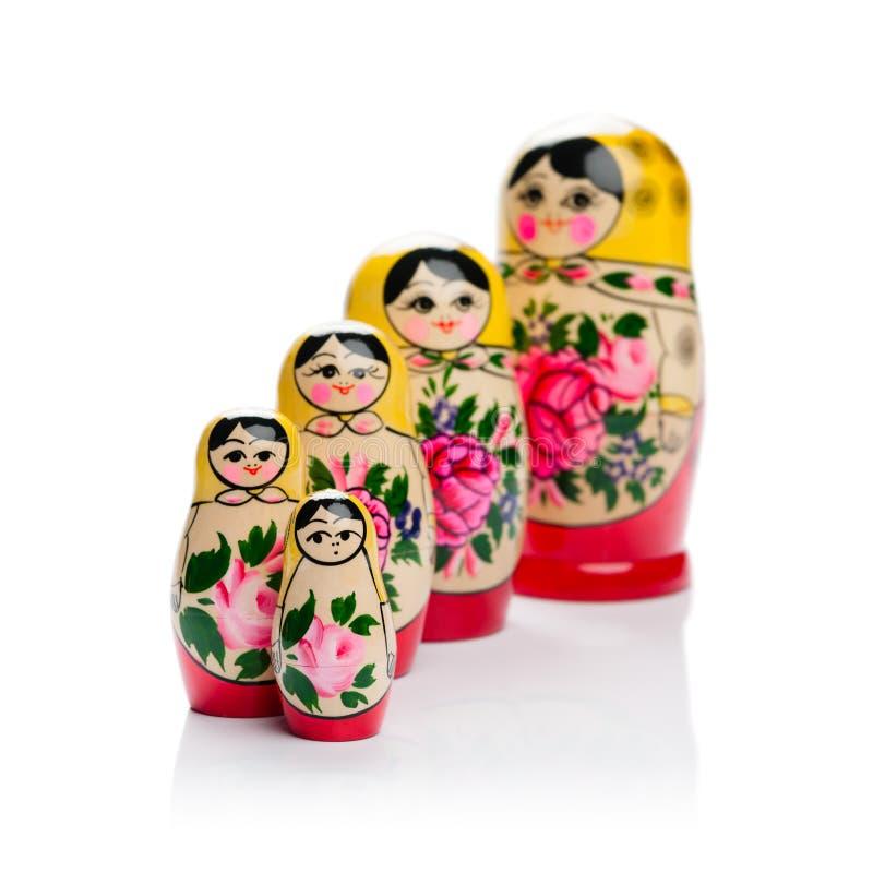 Famiglia russa della bambola di incastramento fotografia stock libera da diritti