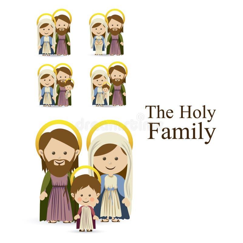 Famiglia santa illustrazione vettoriale