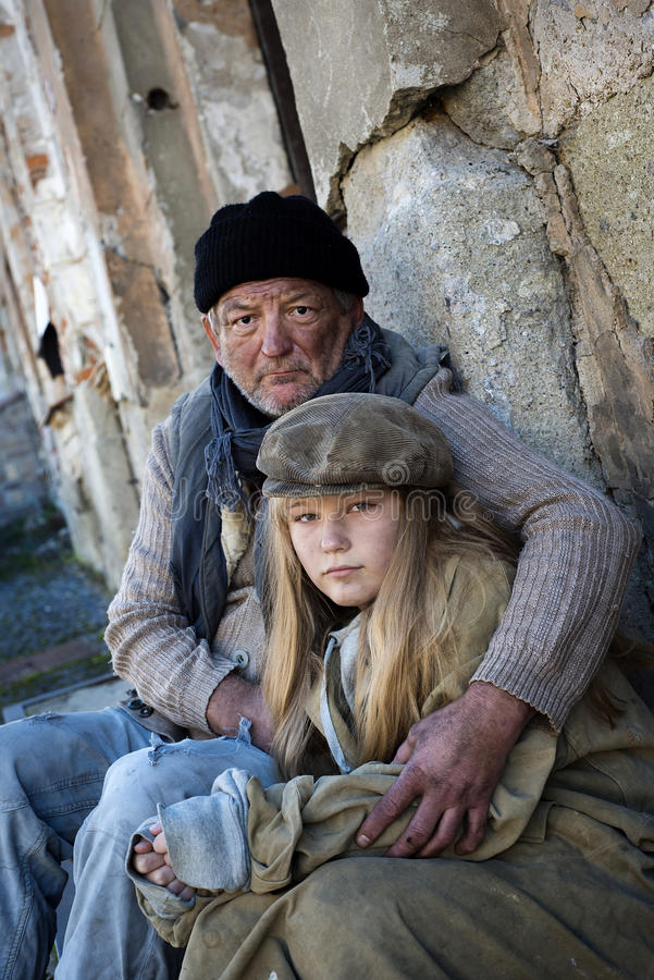 Famiglia senza casa immagine stock libera da diritti