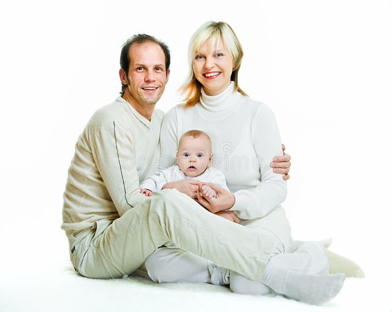 Famiglia sorridente fotografia stock libera da diritti