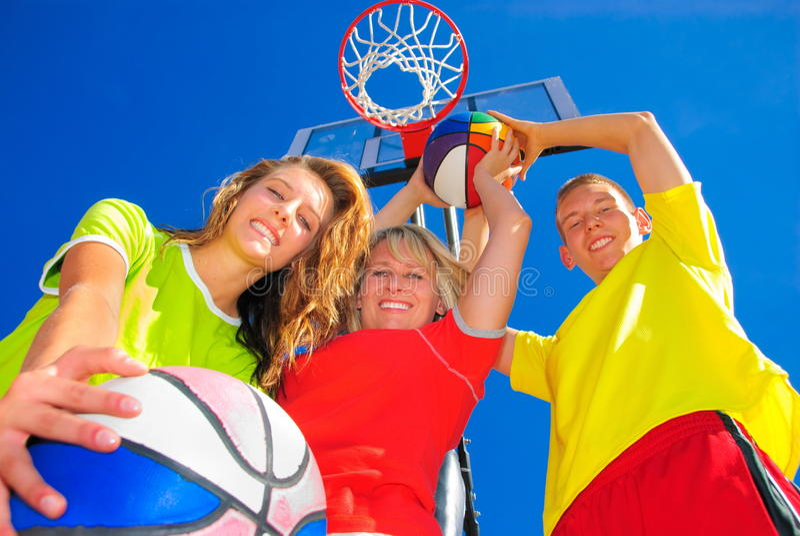 Famiglia sportiva fotografia stock