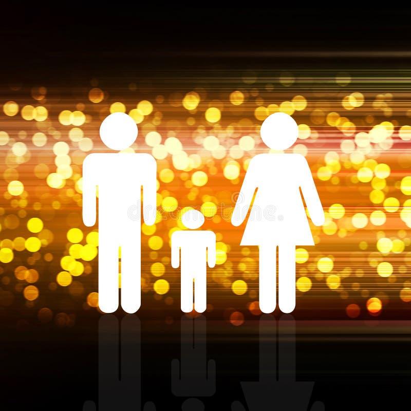 Famiglia su elegante variopinto astratto su fondo astratto illustrazione vettoriale