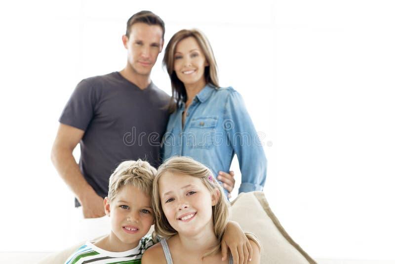 famiglie dei bambini molti felici della famiglia il mio portafoglio due fotografie stock libere da diritti