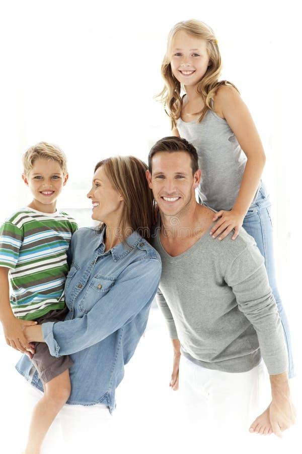 famiglie dei bambini molti felici della famiglia il mio portafoglio due fotografia stock libera da diritti