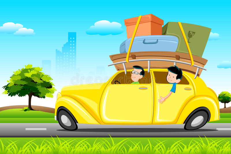 Download Famil in Car on Tour stock vector. Image of performance - 19084226